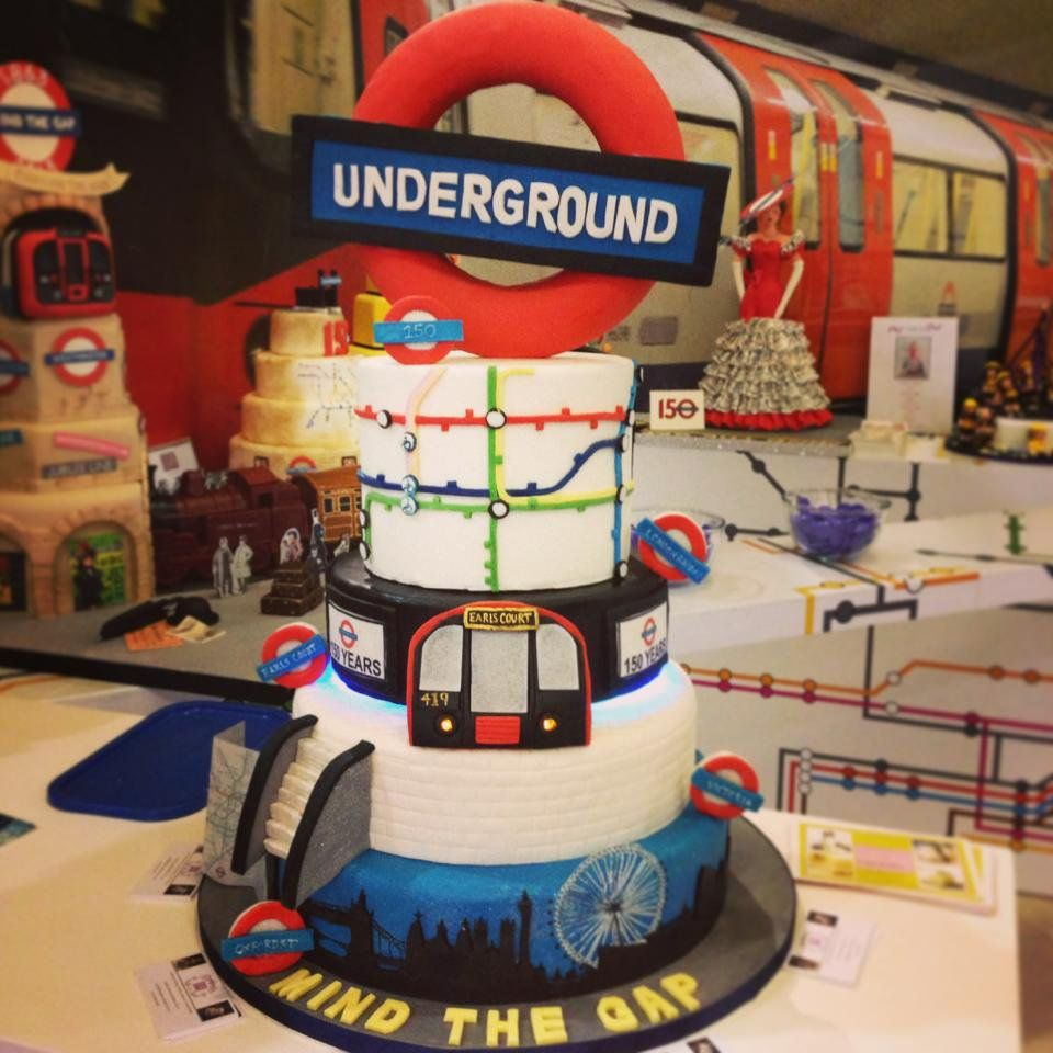 20th Birthday London: London Underground Cake