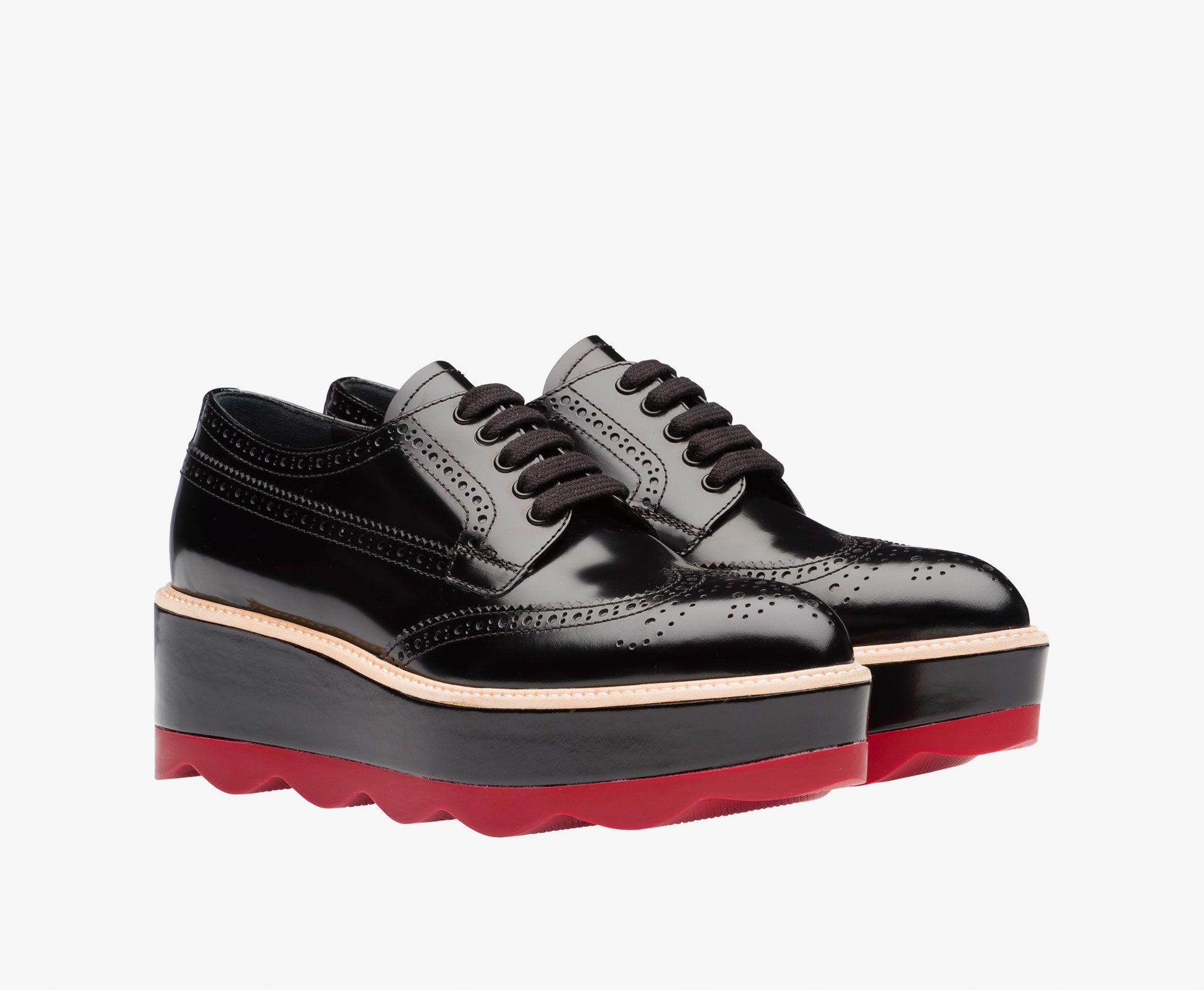 Cuir Chaussures Oxford Avec Des Détails En Tissu Printemps / Été Prada 6nVIWKlhu9