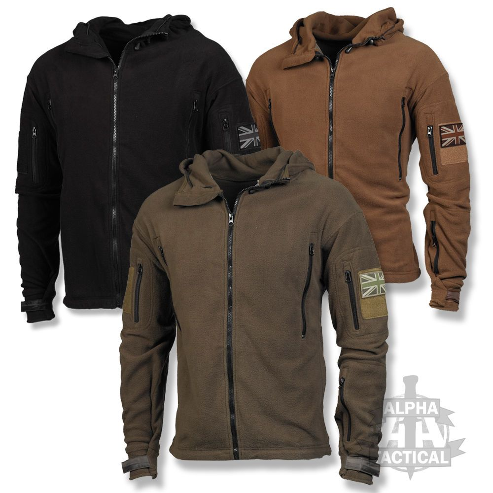 TACTICAL FLEECE HOODIE MILITARY SPECIAL FORCES JACKET WITH