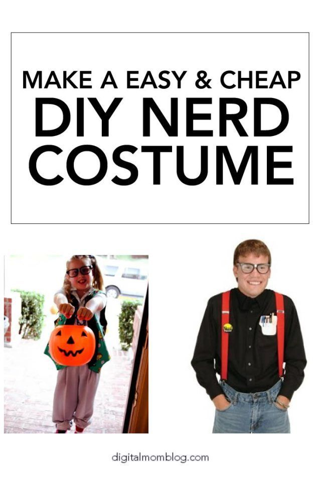 Nerd Costume Ideas and how to make a geek costume on the cheap!  sc 1 st  Pinterest & DIY Nerd Costume Ideas | Nerd costumes Costumes and Diy nerd costume