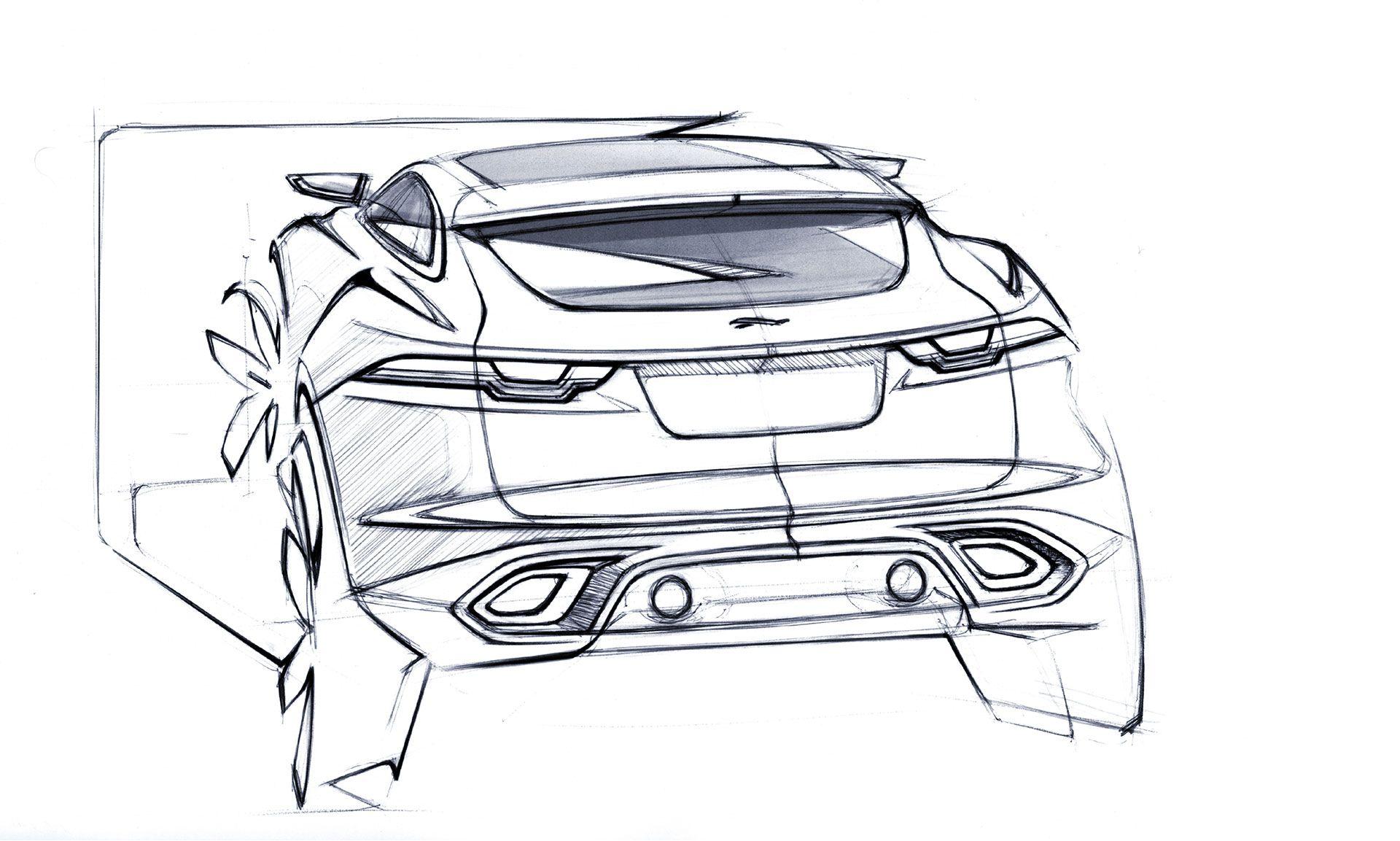 Jaguar C X17 Concept Design Sketch