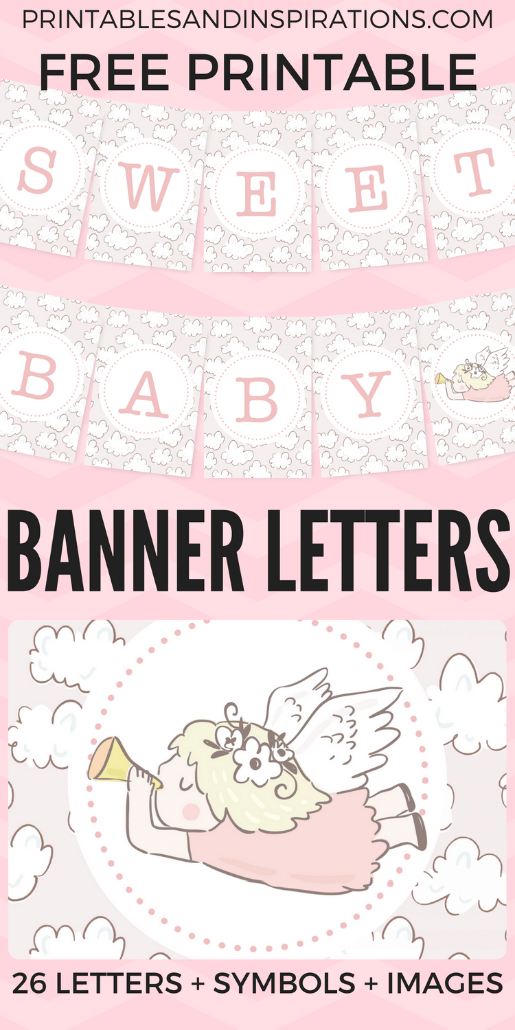 Free Printable Baby Shower Decorations Banner Letters Printables And Inspirations Printable Banner Free Printable Letters Printable Banner Letters