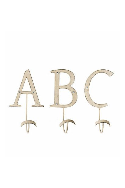 Letter Hooks Anthropologie One For Each Of You Your Towels Section