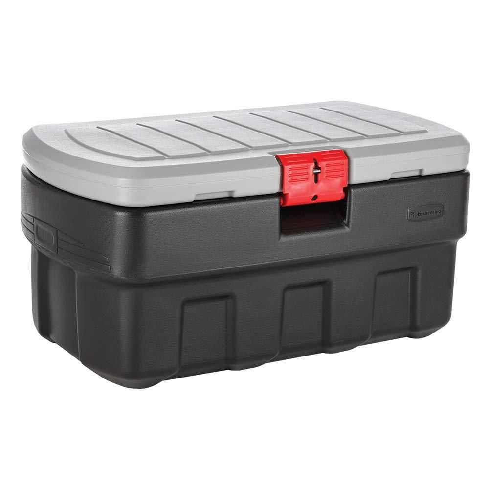 Rubbermaid 35 Gal Action Packer Storage Bin Rmap350000 The Home Depot In 2020 Lockable Storage Box Lockable Storage Containers Lockable Storage