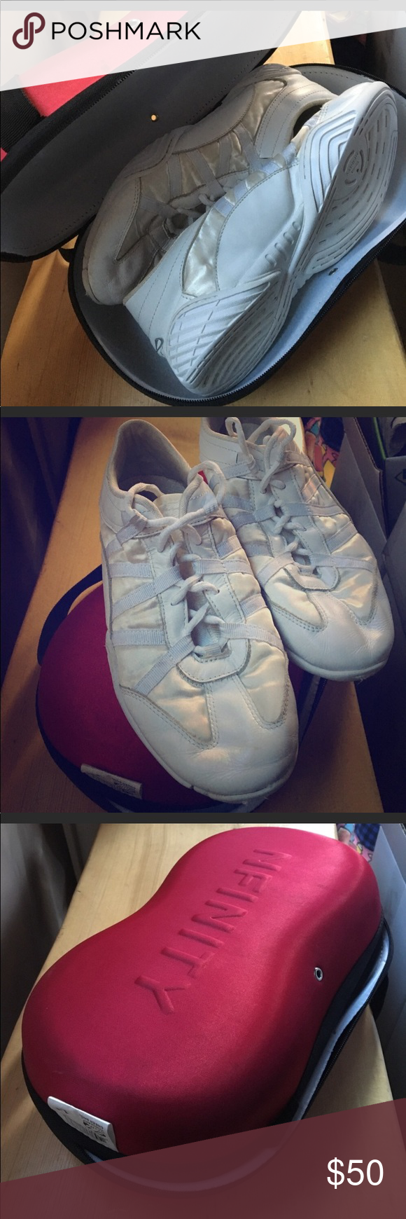 Nfinity Cheer Shoes Nfinity Evolution Shoes Size 11 Brand New Never Worn Box Included Has A Couple Spots On It And Is L Nfinity Cheer Shoes Cheer Shoes Shoes
