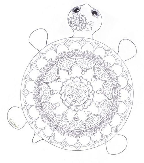 Mandala Turtle Coloring Page Free Adult Coloring Book Pages