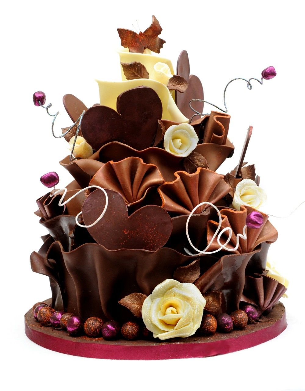 Most Beautiful Chocolate Birthday Cakes Simple Design 2 On Cake