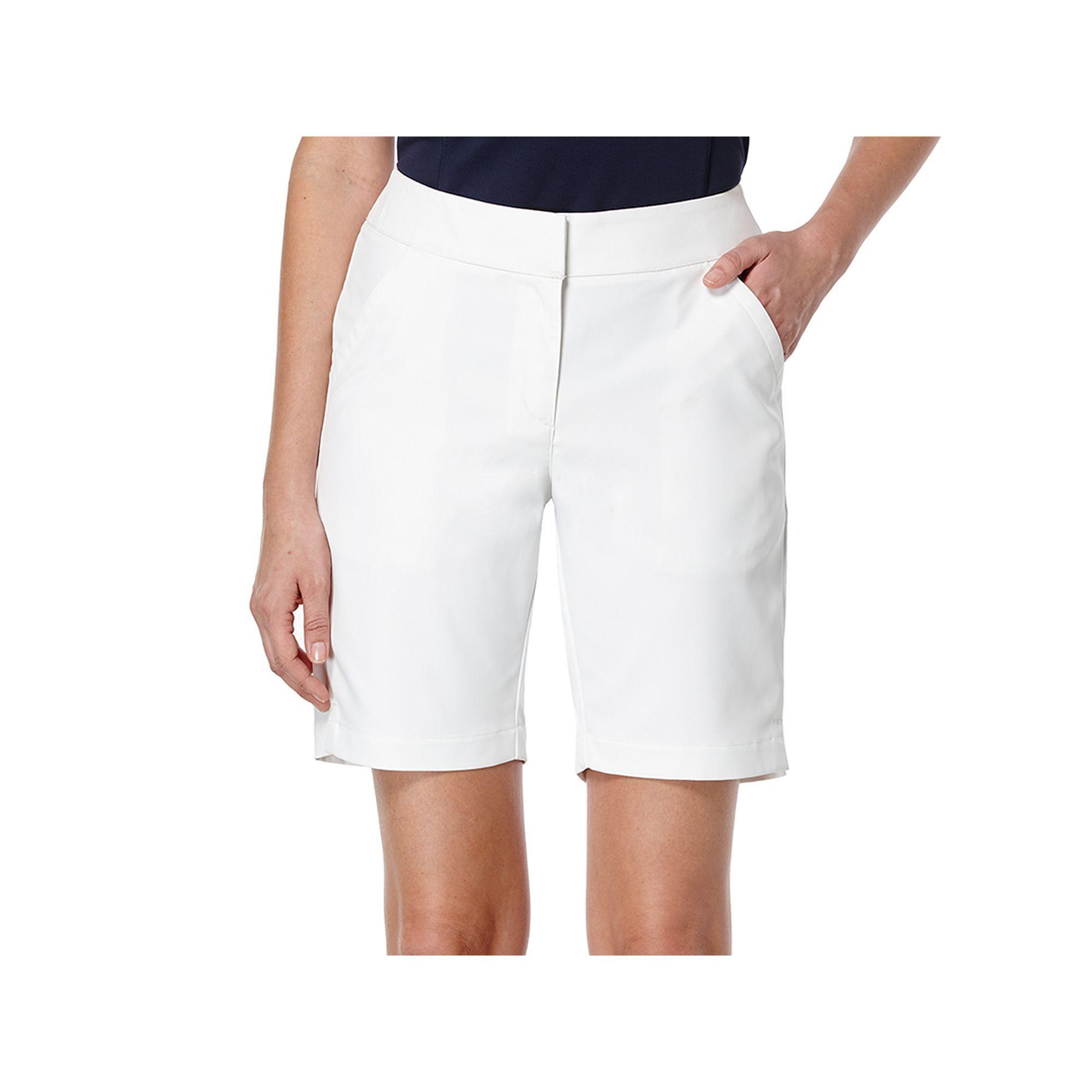 Women's Grand Slam Tech Bermuda Golf Shorts, Size: 14, White