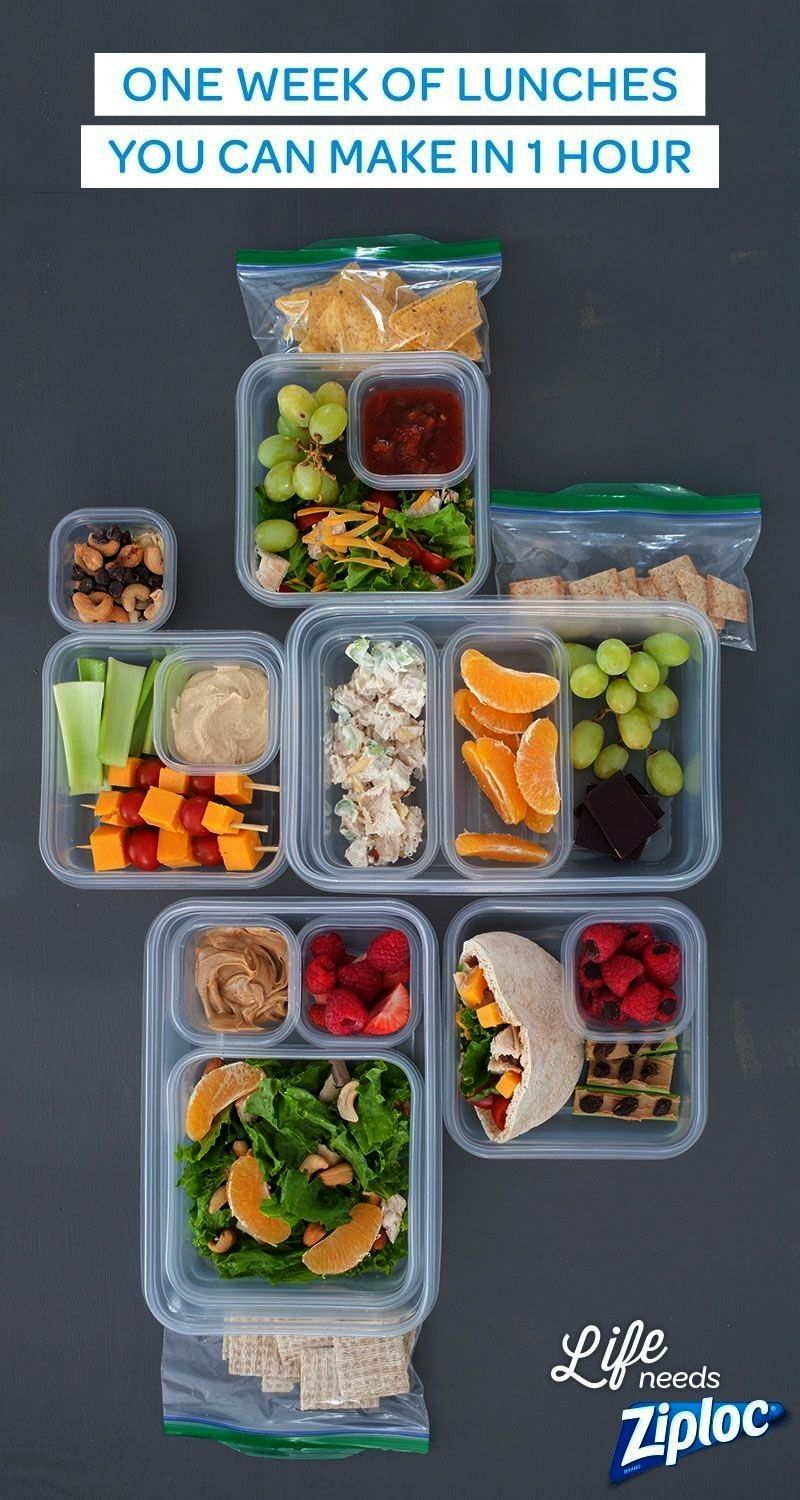 need is one grocery list and one hour (and a few Ziploc® bags and containers) for five easy, healt