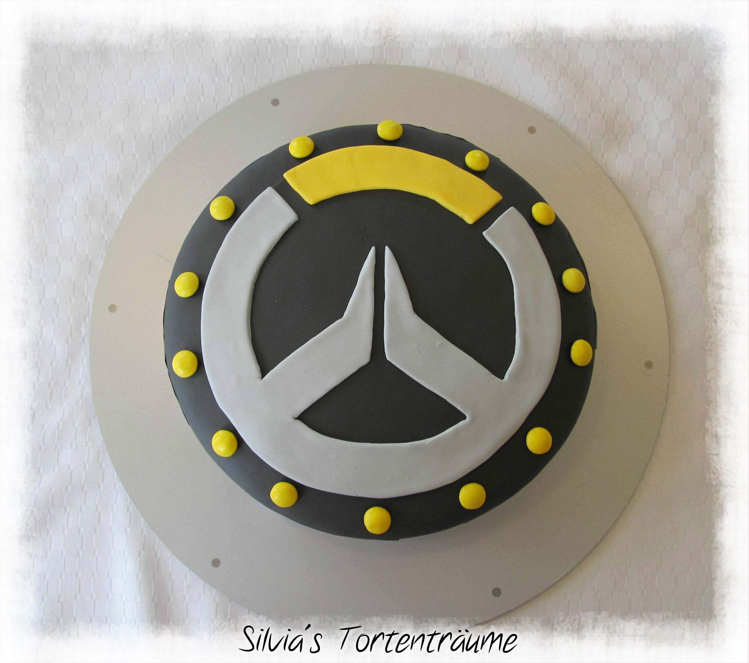 Gelbes kuchendesign logos