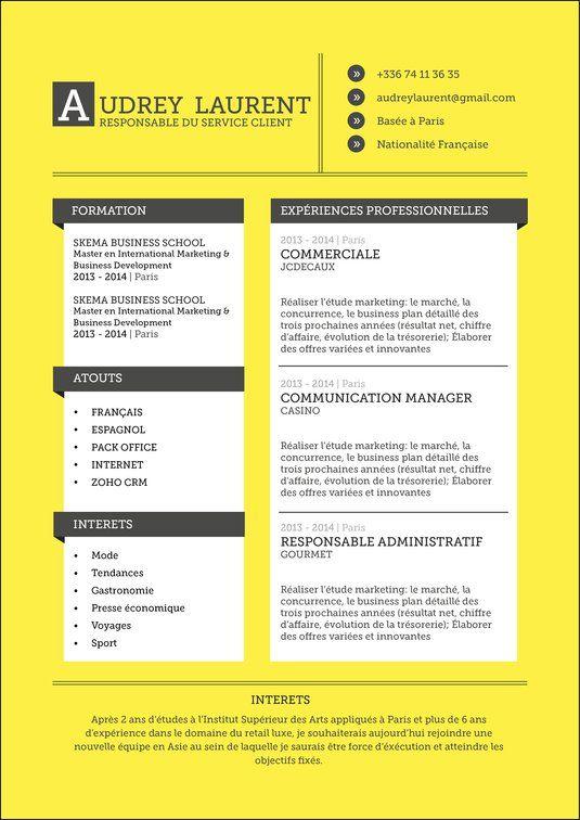 Curriculum Vitae Moderne Curriculum Vitae Modele Cv Skema Business School