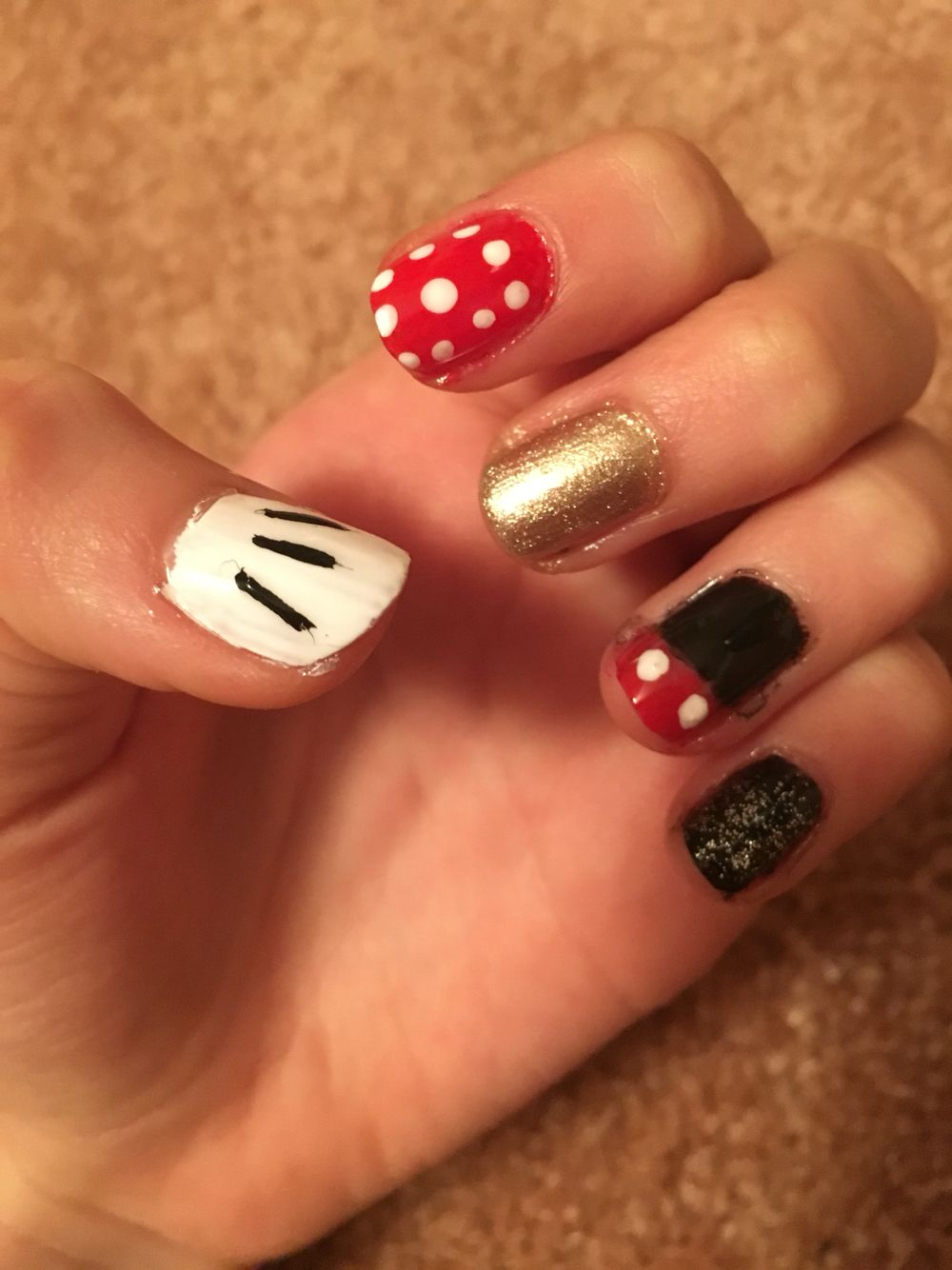 Mickey Mouse Gel Nails! | Mickey Nails | Pinterest | Mickey nails