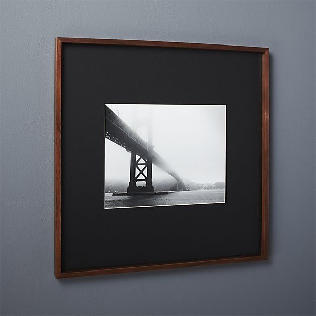 Gallery Walnut Frames With White Mats Cb2 Unique Picture Frames Large Picture Frames Modern Picture Frames