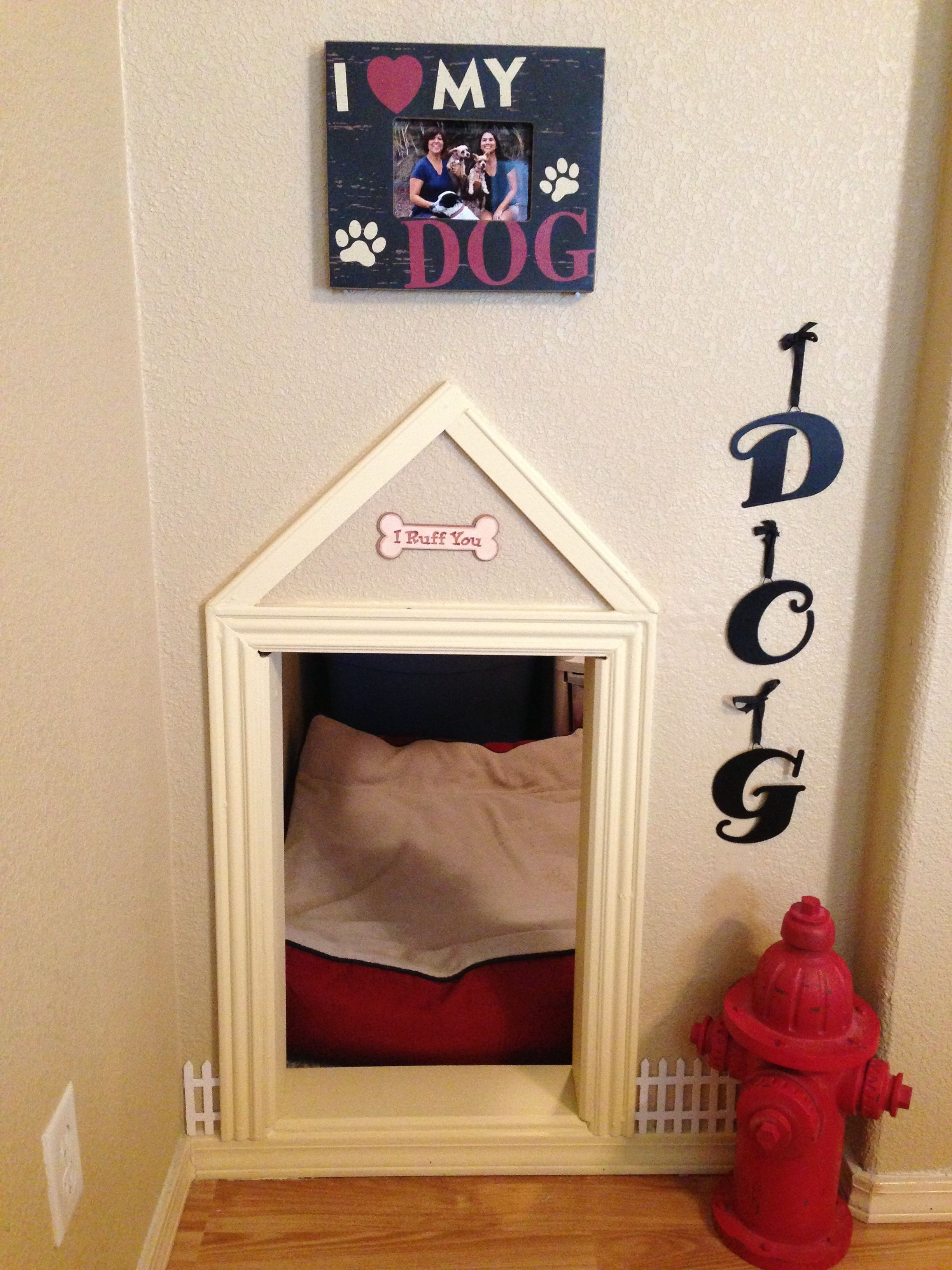 Built in dog house for my puppies Kitchen & Bath Depot in Rome, GA ...