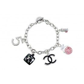 Chanel Silver Cosmetic Charms Bracelet
