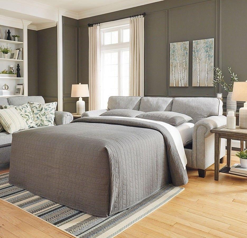 Best Alandari Gray Queen Sofa Sleeper Bedroom Furniture Sets 400 x 300