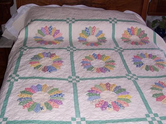 Dresden Plate Quilts Dresden Plate Quilt So Pretty With