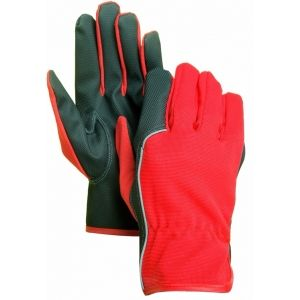DR616 -Diamond PU Palm Driver Gloves With Spandex Back