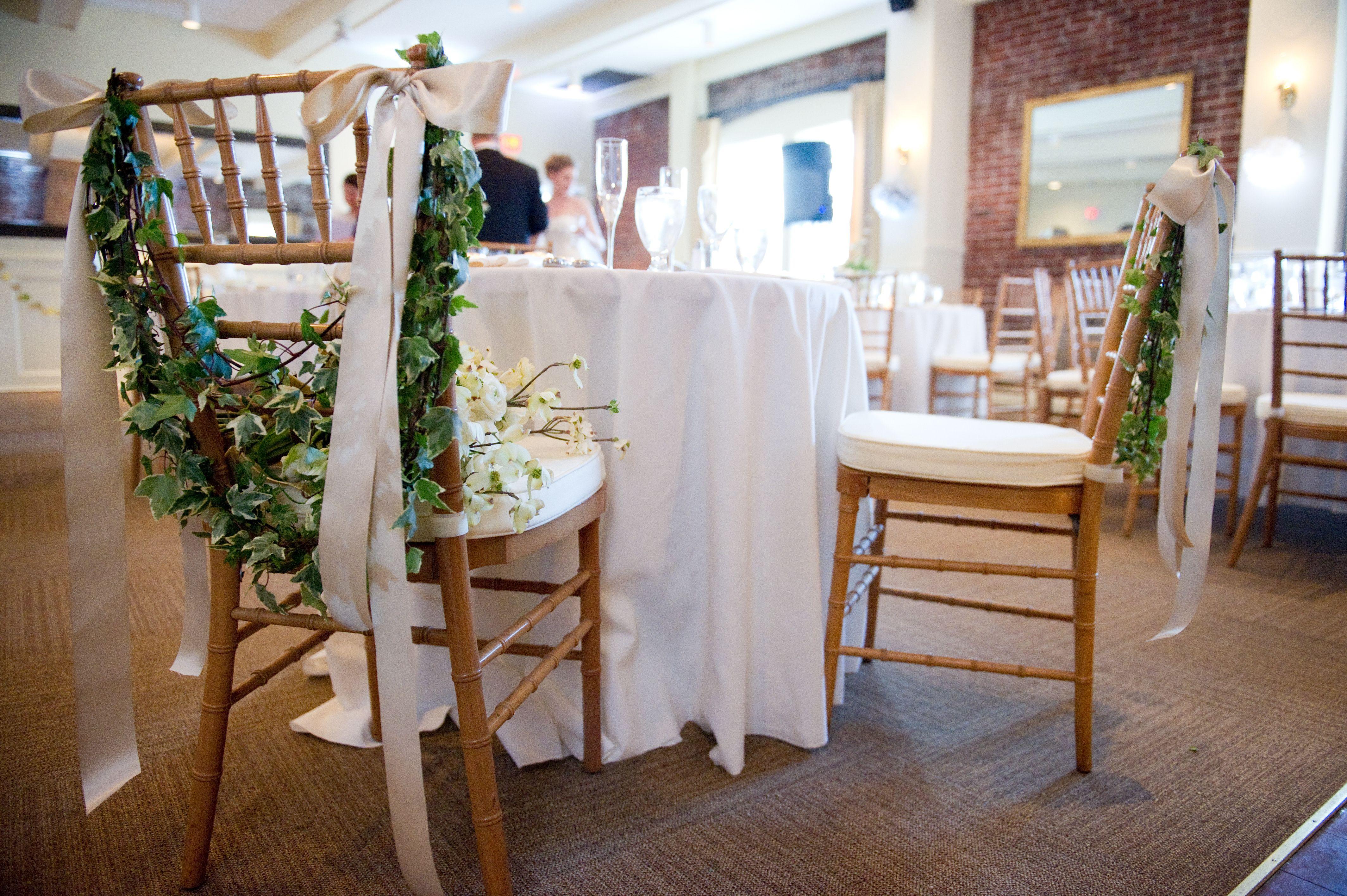 Springtime Woodland Wedding Chair Garlands Designed By Le Reve