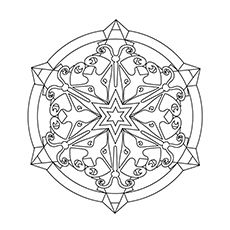 Top 20 Snowflake Coloring Pages For Your Little Ones | Mandala ...