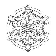 Snowflake Coloring Pages Mandala