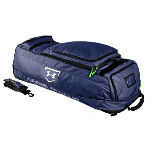 20a476d7ba Under Armour Wheel House Deluxe Wheeled Player Bag - Navy | Under ...