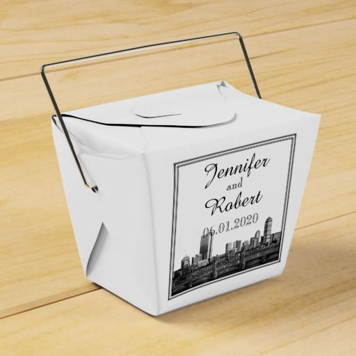 Boston Destination Wedding Favor Box