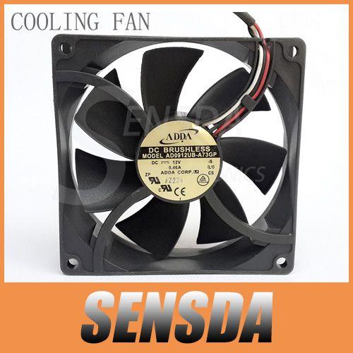 Free Shipping Adda Ad0912ub A73gp 90mm 92mm Dc 12v 0 46a Radiator