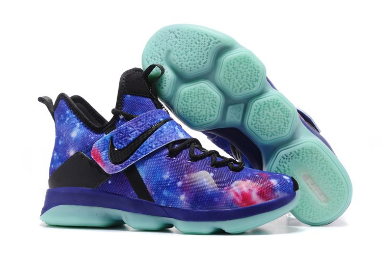 "f00ae14ab30 Glow In The Dark Men s Nike LeBron 14 ""Galaxy"" Basketball Shoes For Sale"