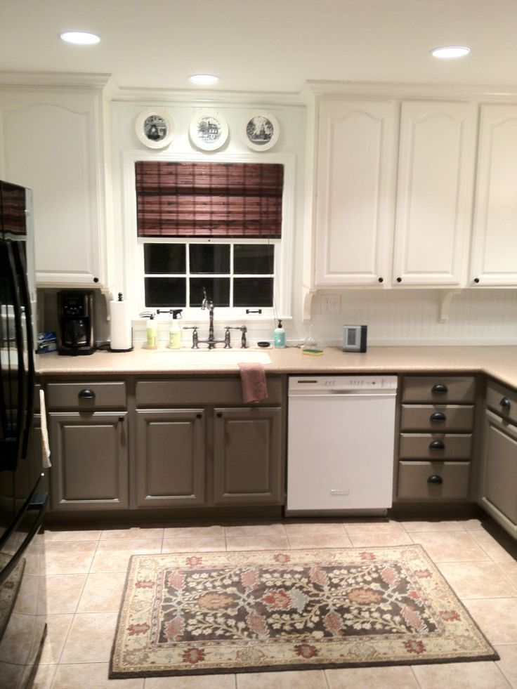 wonderful two tone kitchen cabinets : pictures, options, tips