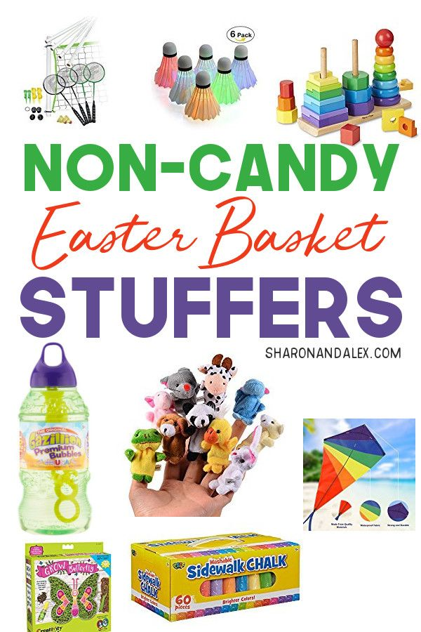 Non Candy Easter Goodies For Your Basket Sharon And Alex Candy Easter Basket Easter Baskets Easter Baskets For Toddlers