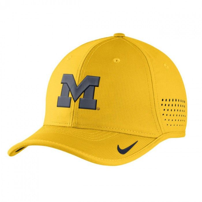 3b34cb8a University of Michigan 2016 Nike Dri Fit Coaches Sideline Hat At Campus Den
