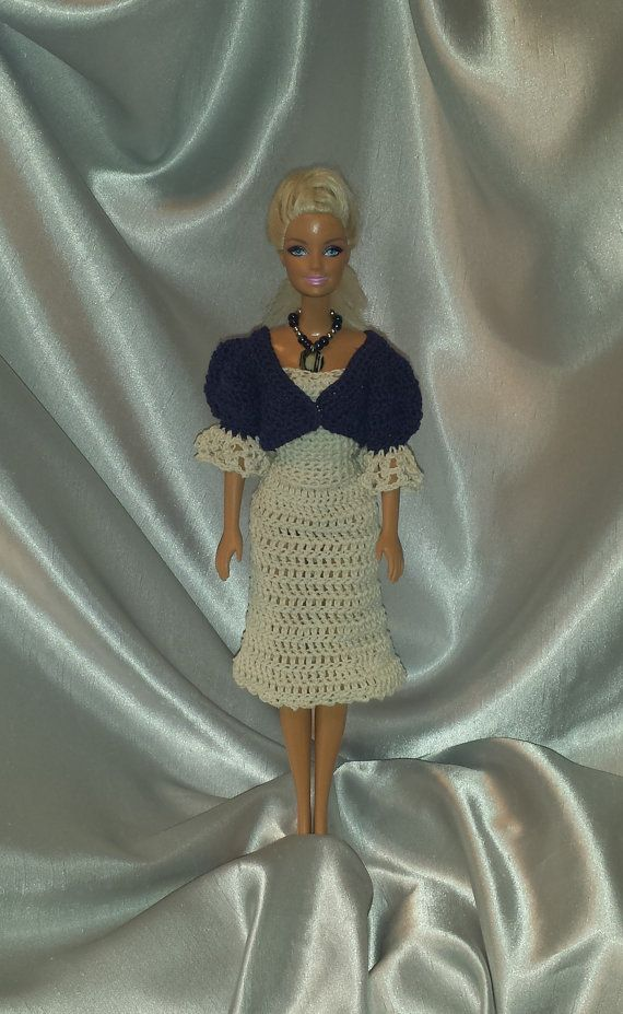 Crocheted Outfit for Barbie Fashion Doll by GrandmasGalleria ☆
