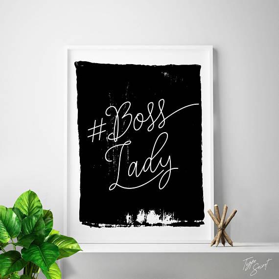 BOSS LADY, boss gift ideas, lady boss, girl boss, gift for bosses day, gift for boss, office art, home office #boss #bosslady #girlboss