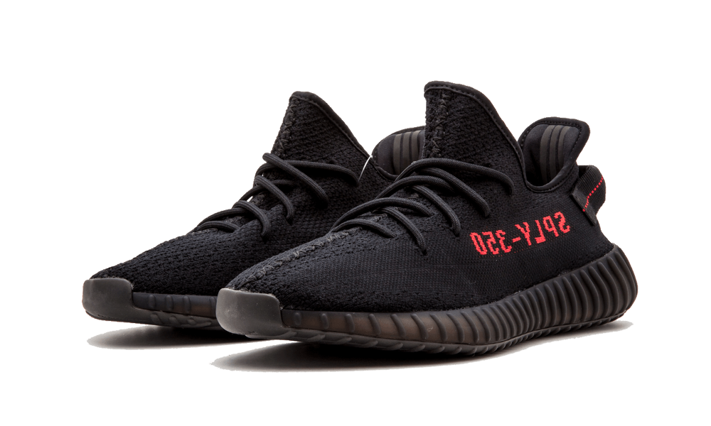 adidas Yeezy Boost 350 V2 Noir Rouge Bred CP9652 | hypesfr