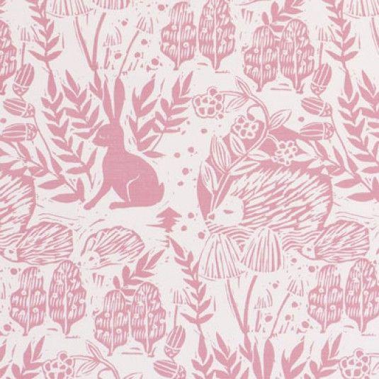 Clarke & Clarke Hedgerow-Pink F0673-1 Decor Fabric In 2019