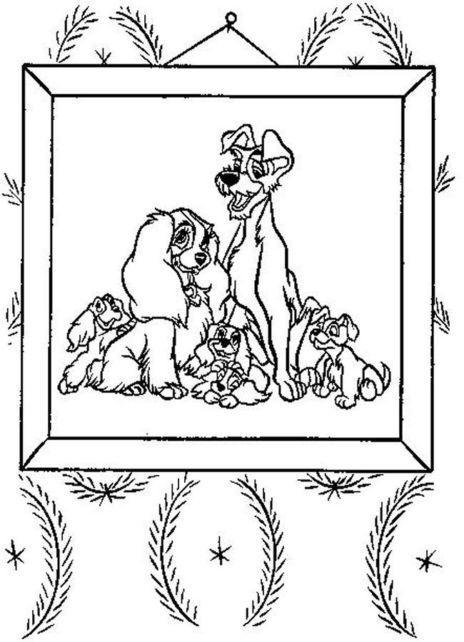 lady and the tramp coloring pages - Google-søgning   DISNEY COLORING ...