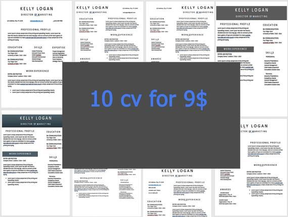 resume  cv template bundle  10 best selling resume