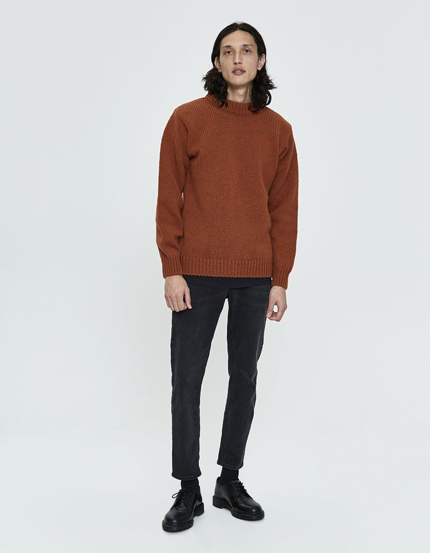 Devold Mens Nansen crew neck wool jumper.