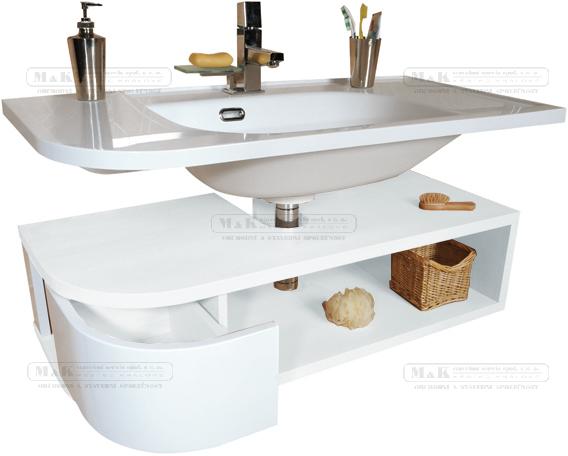 Skříňka pod umyvadlo š. 96cm, č.342 | Výprodej | Koupelnový nábytek | M&K