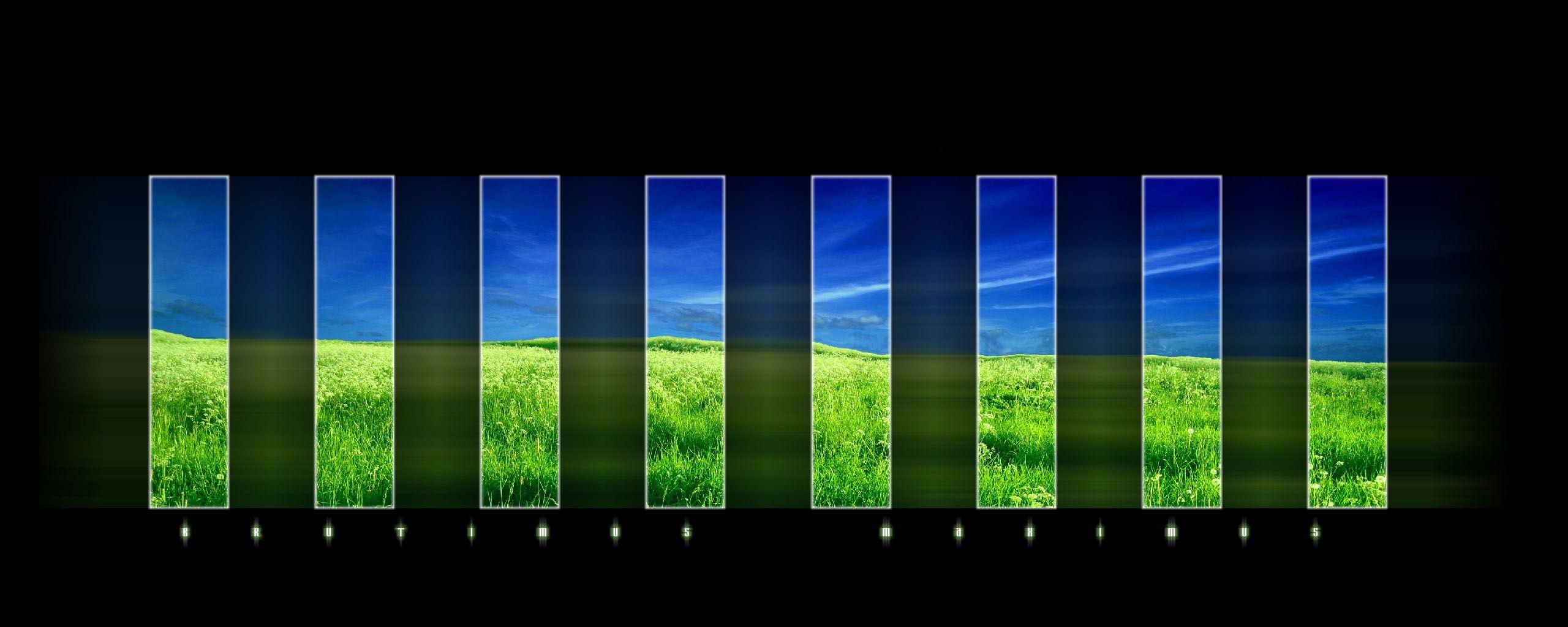 portal dual screen wallpaper : gaming 2560×1024 dual display