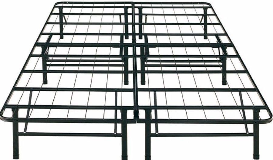 Portable Posture Support King-Size Metal Platform Bed Frame Bedroom ...