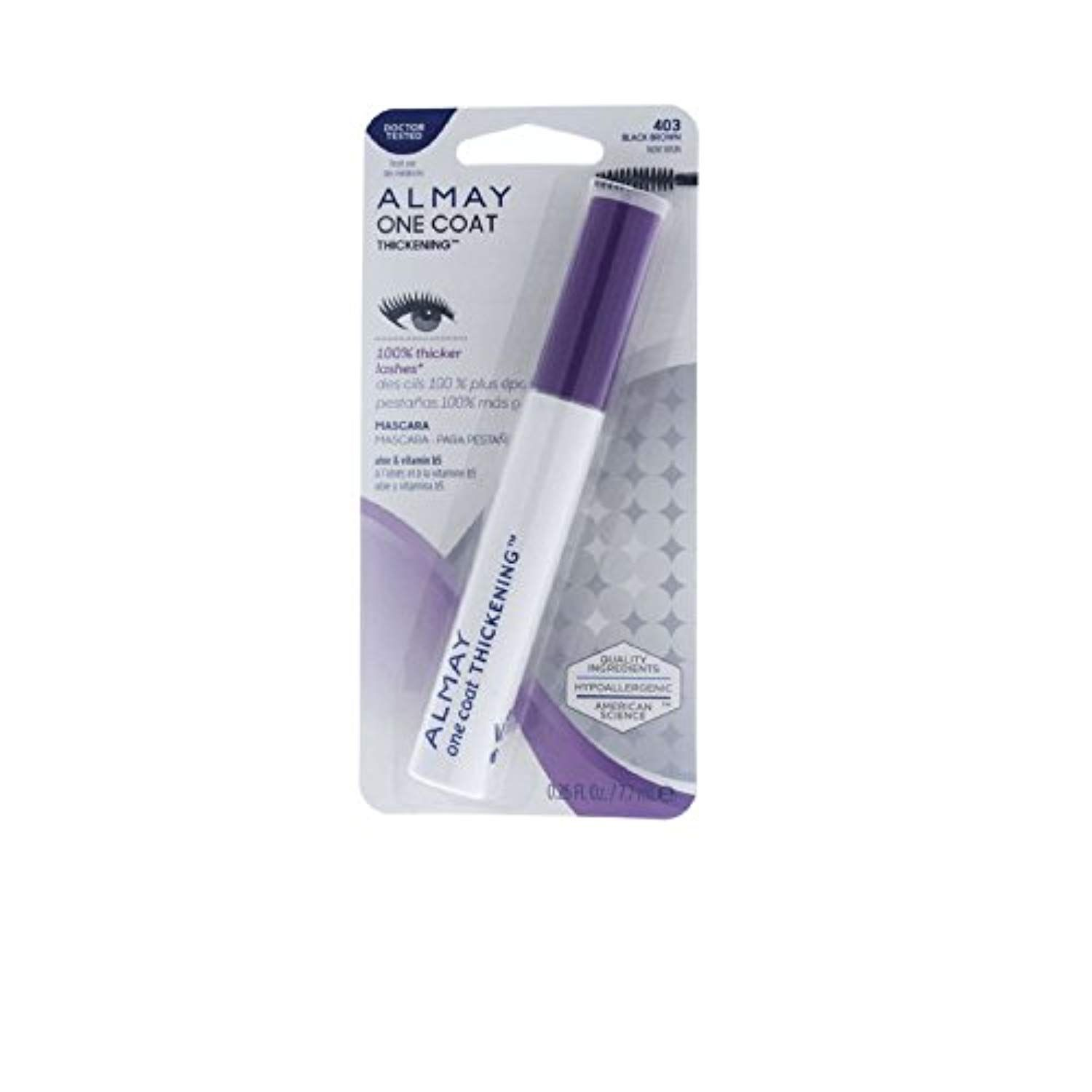 2c327543c12 Almay One Coat Thickening Mascara, Black Brown [403]... *** Read more  reviews of the product by visiting the link on the image. (This is an  affiliate link) ...