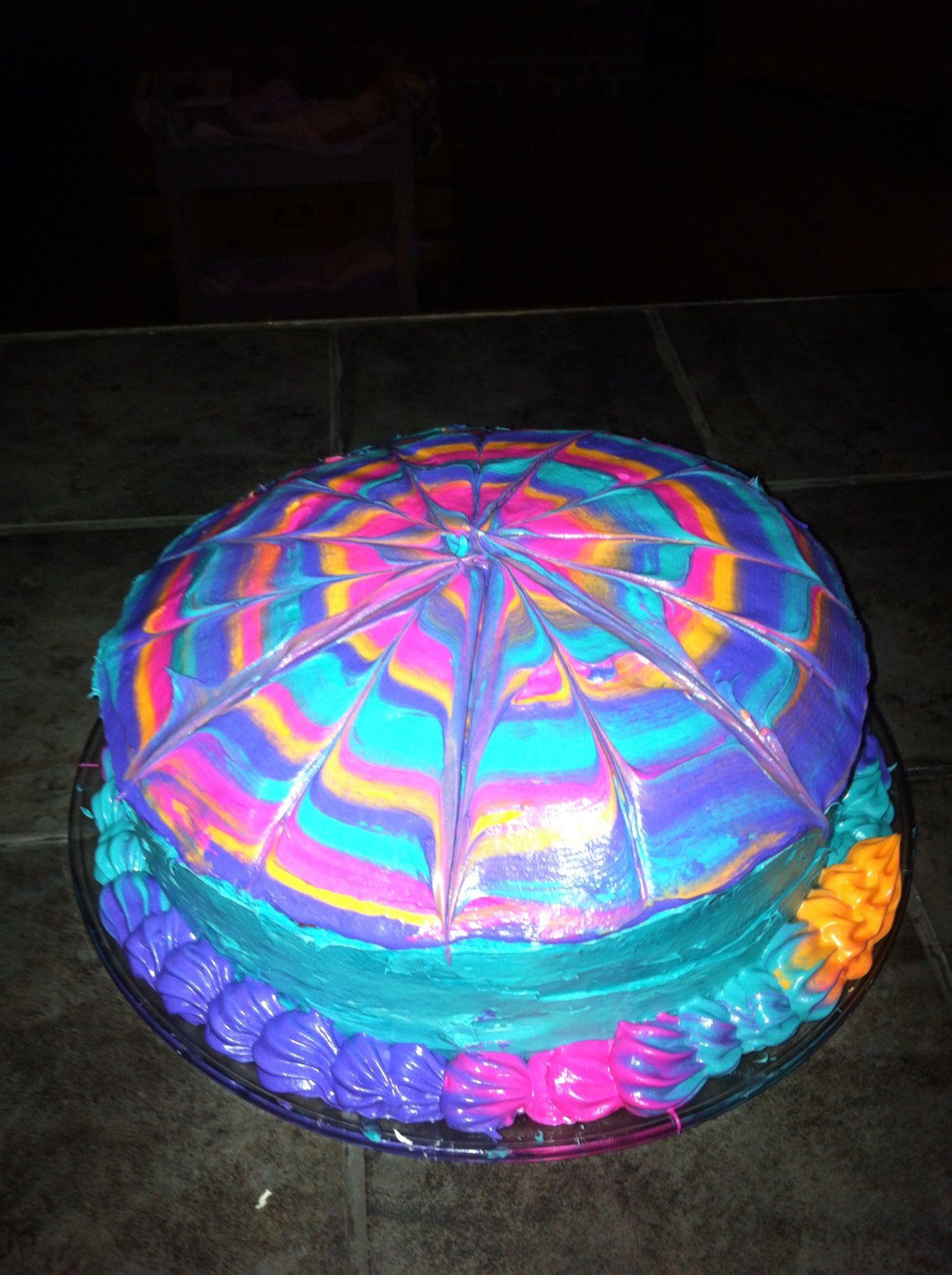 Tie Dye Cake Icing