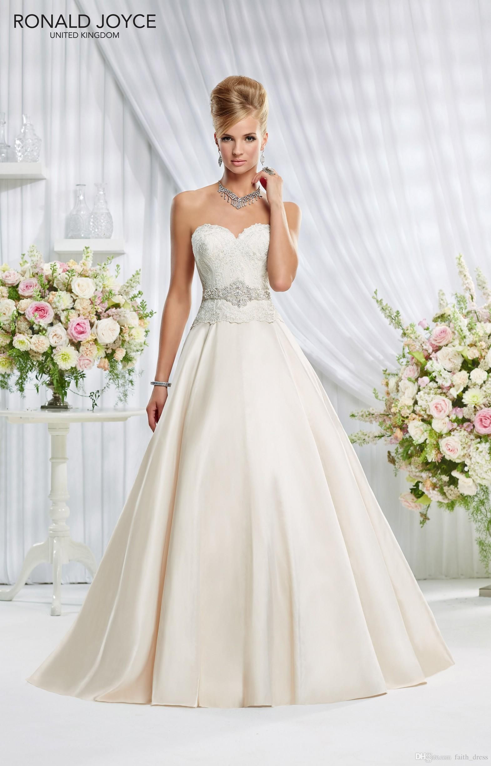 Wholesale ronald joyce wedding dresses a line sweetheart backless wholesale ronald joyce wedding dresses a line sweetheart backless sleeveless floor length crystal belt bridal wedding ombrellifo Image collections