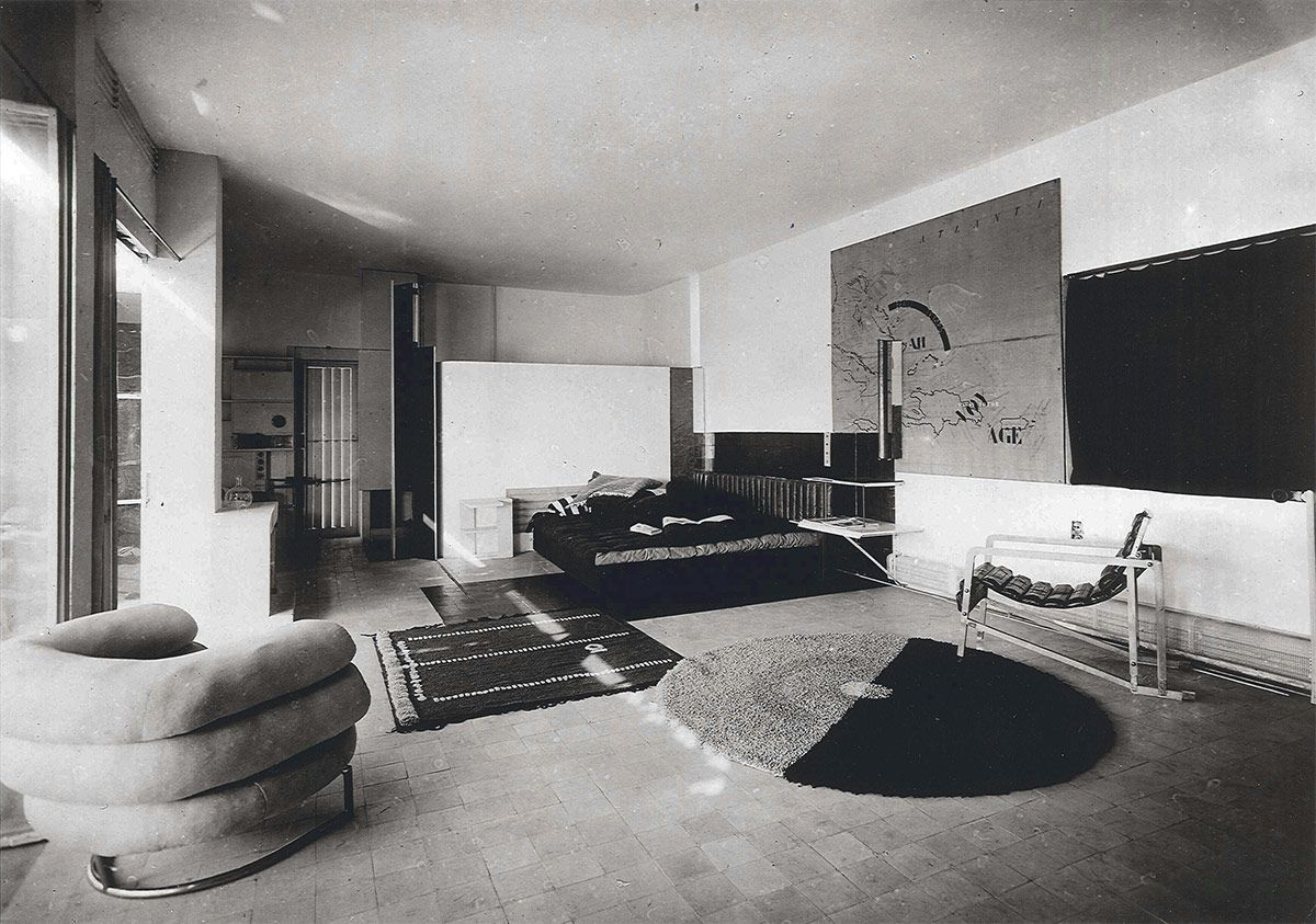 Eileen Grays Living Room In E1027 Roquebrune Cap Martin 1926 1929