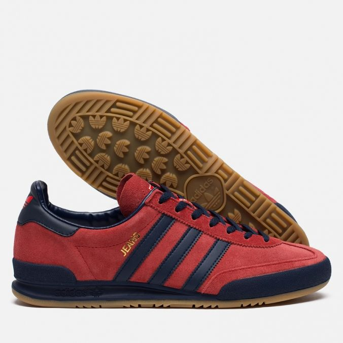 Кроссовки adidas Originals Jeans MKII Red Dark Blue. Article  S74802.  Release  5df2a5a92931b