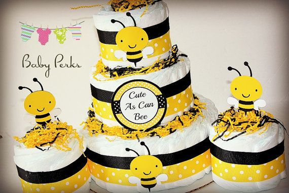 Bumble Bee Diaper Cake Mother To Bee Baby Shower Baby Shower