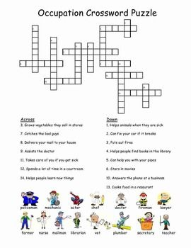 Occupation Crossword Puzzle | pricelesso | Crossword, Self defense