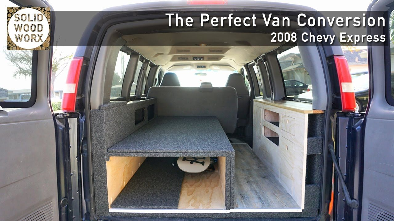 The Perfect Van Conversion With Collapsable Bed And Kitchen Area